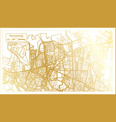 Semarang indonesia city map in retro style in vector