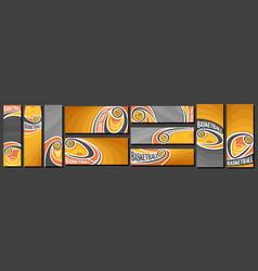 set basketball banners vector image