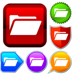 Set shiny icon series on buttons file binder vector