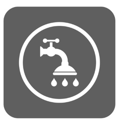 Shower tap flat squared icon vector