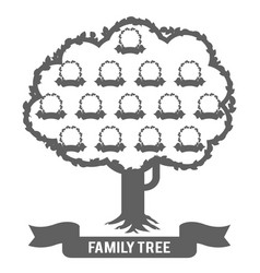 Silhouette genealogy family tree son daughter vector