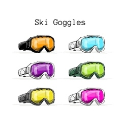 Ski googles sketch for your design vector