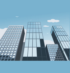 skyscrapers on a background of the blue sky vector image