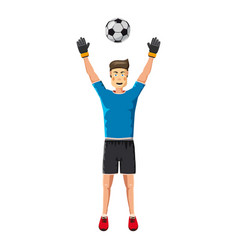 Soccer player man icon cartoon style vector