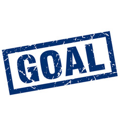 Square grunge blue goal stamp vector