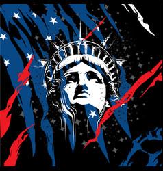 Statue liberty head vector