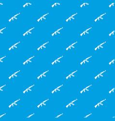 submachine gun pattern seamless blue vector image