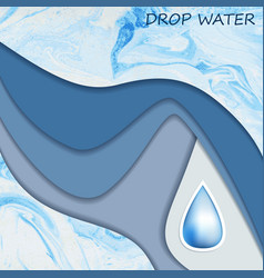 Template with drop water for design vector