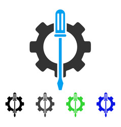 Tuning options gear flat icon vector