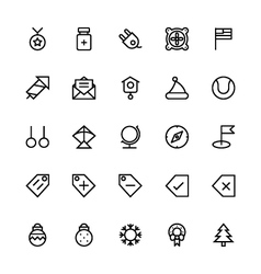 User interface colored line icons 48 vector