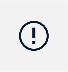 Warning icon simple vector