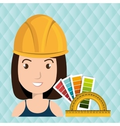 woman architecture rules color vector image