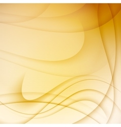 Yellow abstract background with curves lines vector