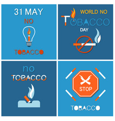 your last cigarette ash tray no tobacco day vector image