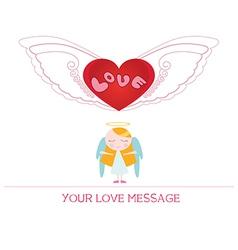 cartoon angel girl in love vector image