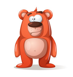 cute funny bear characters vector image vector image
