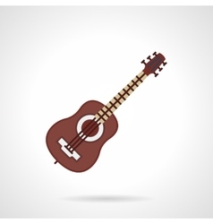 Flat color icon for guitar lessons vector image vector image