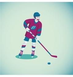Hockey player Isolated cartoon character Flat vector image vector image
