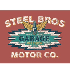 Motor company vintage sign vector image vector image