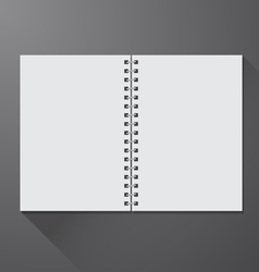 Notebook opened vector image