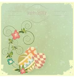 vintage easter greeting vector image