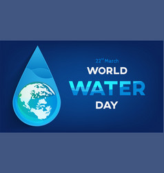 water day banner vector image vector image
