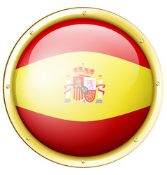 badge design for flag of spain vector image vector image