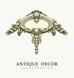 classical antique decor vector image vector image