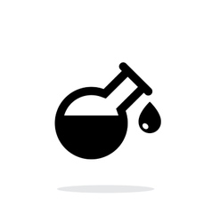 Drop from florence flask simple icon on white vector image vector image