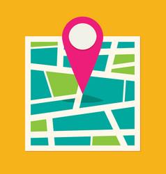 location map flat design icon vector image vector image