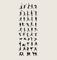 Sport and Activity Silhouettes vector image vector image