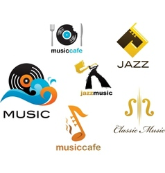 collection of music icons and elements vector image