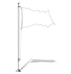 Flag pole vector