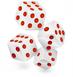 four dices vector image