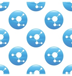 Molecule sign pattern vector image