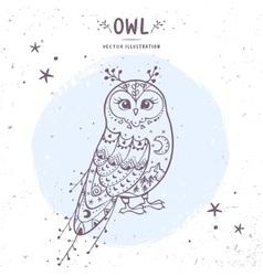 owl fairy vector image vector image