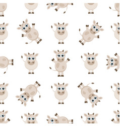 pattern with cute cows vector image vector image