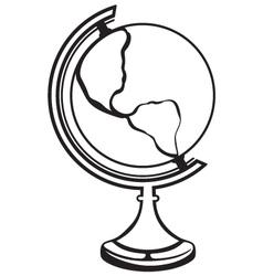 Silhouette globe vector image