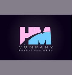 hm alphabet letter join joined letter logo design vector image