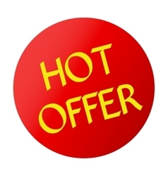 hot offer red vector image