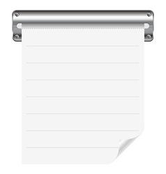receipt paper vector image vector image