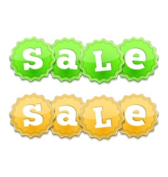 Yellow and Green Sale Tags vector image vector image