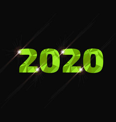 2020 year low poly sign vector