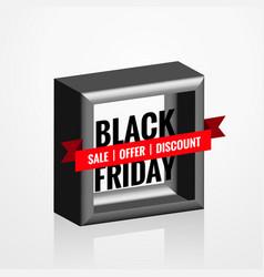 3d style black friday sale element design vector image