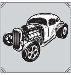 a stylish monochrome hotrod vector image