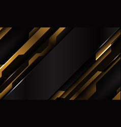 abstract yellow black metallic cyber futuristic vector image