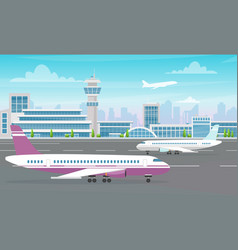 airport terminal building with big vector image
