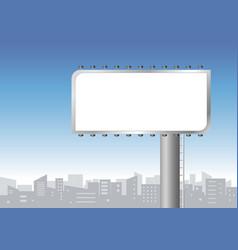 Blank billboard in city vector