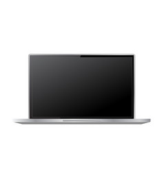 blank screen realistic laptop on a white vector image