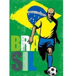 Brazilian football player vector image